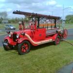 de antieke brandweer auto van BEDUM. De TROTS van de vrijwillige brandweer Bedum.