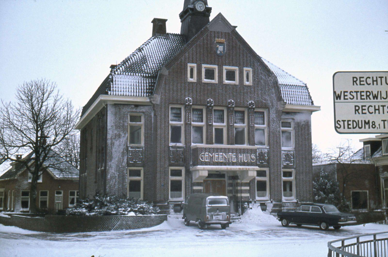 Gemeentehuis Bedum letters (c)Historische vereniging Bedum